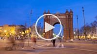 Arc del Triomf Triumph Arch monument, Barcelona, Spain
