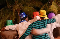 Revelers, New Year´s Eve partiers, Salalah, Oman