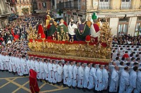 Holy Week, Brotherhood of The Last Supper, Malaga, Region of Andalusia, Spain, Europe