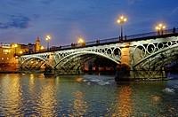 Triana bridge and Guadalquivir river, Seville, Spain