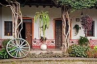 Courtyard at Hotel Posada de don Rodrigo in Antigua, Guatemala