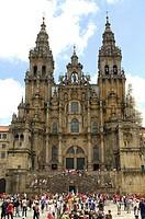 Santiago de Compostela Spain  Obradoiro facade and square in the city of Santiago de Compostela