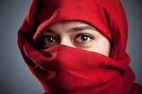 Woman with a red veil