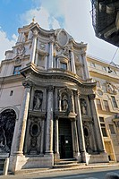 San Carlo alle Quattro Fontane Church, better know as San Carlino, Rome, Latium, Italy
