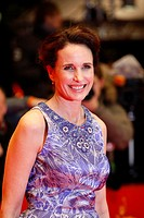 Actress Andie MacDowell arrives for the screening of the film ´Jayne Mansfield´s Car´ at the 62nd International film festival Berlinale, Berlin, Germa...