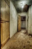 Corridor in abandoned house