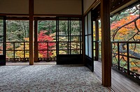 View of the garden from Tamozawa imperial villa in Nikko, Japan