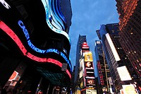 The twilight view of Times Square  Manhattan  New York City  USA.
