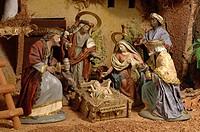 Nativity scene whit Magi Kings, Christmas, Region of Andalusia, Spain, Europe