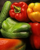 Peppers and cucumbers, Andalusia, Spain,