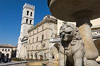 Piazza del Comune, Assisi, Perugia, Umbria, Italy