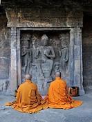 Monks praying Ajanta Caves