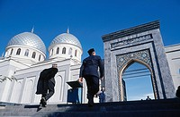 Men going to the mosque, Tashkent, Uzbekistan