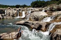 Cascade de Sautadet Waterfall La Roque sur Cèze Gard France