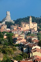 La Turbie Dominated by the Trophée des Alpes the Trophy of Augustus or Roman Victory Monument Alpes-Maritimes France