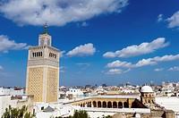 North Africa, Tunisia, Tunis. The great mosque Zaytouna.