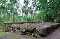 Marae, ceremonial platform, Kamuihei, Nuku Hiva, Marquesas Islands, French Polynesia