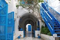 North Africa, Tunisia, Sidi Bou Said. House Dar El Annabi eighteenth century.