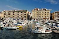 Quay or Quai Rive Neuve Old Port or Vieux Port Marseilles or Marseille Bouches-du-Rhône Provence France