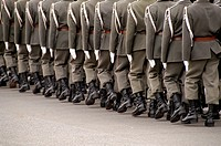 Austria, Vienna, Heldenplatz Heroes Square, Army Honor Guard for visiting generals