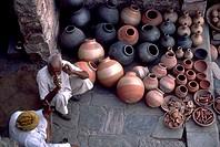 India, Rajahstan, Jaipur, Pottery Seller