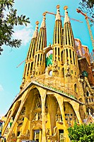 Sagrada Familia basilica by Gaudi, Barcelona, Catalonia, Spain