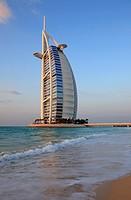 Burj Al Arab hotel at Jumeirah beach, Dubai, United Arab Emirates  UAE