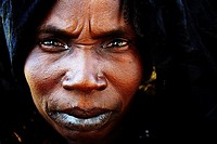 Village is attacked and destroyed by Janjaweed Arab militia People have been killed, West Darfur, Sudan This Sudanese woman has fled to Chad and lives...