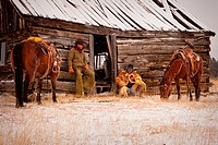 Two Cowboys at the Cabin