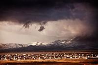 Clouds over sprawling suburb of West Jordan, Utah, USA