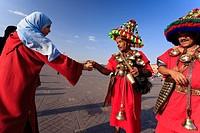 Morocco, Marrakech, Djemaa el-Fna Square, Water Seller