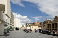 Europe, Spain, Barcelona, Pla dels Angels MACBA Museum ,    As a public entity, the Museu d'Art Contemporani de Barcelona MACBA assumes responsibility...