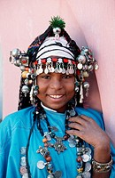 Moroccan girl with traditional Jewellery in Agadir
