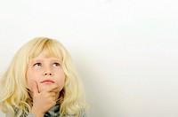 Stock Photo of child thinking