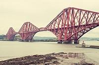 Forth rail bridge in Edinburgh.