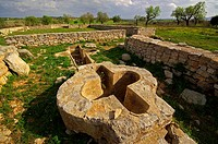 Temple and early Christian village of Son Peretó 5th-8th centuries, Manacor, Majorca, Balearic Islands, Spain