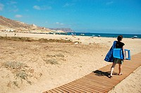 El Playazo beach CABO DE GATA NATURAL PARK Almeria province Andalusia Spain