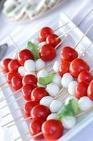 Caprese, mozzarella, tomato and basil