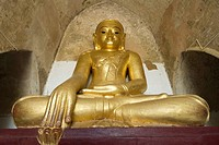 Sitting Buddha, Gawdawpalin Pahto, Bagan, Myanmar/Burma