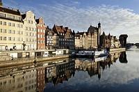 Dock, Motlawa river  Gdansk, Poland