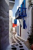 Narrow Lane, Old Town, Mykonos, Greece Greek Islands