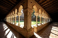cloister of the abbey of Moissac GR 65 way of Compostela, France