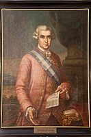 Jose de Galvez y Gallardo, Marquis de Sonora, Visitor and Minister of Indian 1720-1787, Oil on canvas, Junipero Serra Museum, Petra, Mallorca, Baleari...