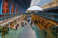 UK, England, London, St  Pancras Station