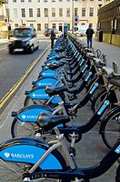 UK, England, London, Cycles for hire