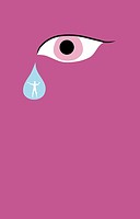 Eye and teardrop