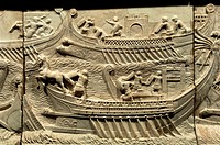 Naval battle of Actium-detail, 1st century, Duques de Cardona Collection, Cordoba, Spain,