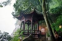 Kiosk, Leshan, Sichuan Province, Yangtze River, China.