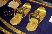 Sandals, Tutankhamun´s treasure, Museum of Egyptian Antiquities, Cairo, Egypt,