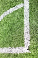 Corner lines in a football field